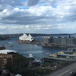 This photo doesn't do our view justice as we could also see the Harbour Bridge from our room