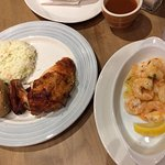 Chicken and Shrimp Dinner (on 2 plates)