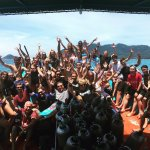 Group picture on the Roctopus boat. Photo credit: RoctopusDive