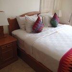 Comfy bed, great villa