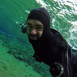 Had the chance to remove the mask and i could feel the freezing water - my face shows :D