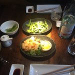 edamame and popcorn shrimp