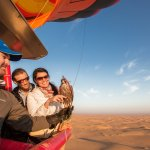 Fly with falcons on your Hot Air Balloon flight!