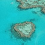 Heart Reef from the helicopter