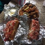 Lobster rolls and fried clams