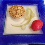 Gluten and dairy free apple crumble made especially for me!