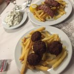 Tzatziki, Sausages and Meatballs to start