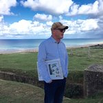 Guide Dale Boone, overlooking Omaha Beach.