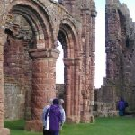 Priory ruins from inside