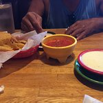 cheese dip and salsa