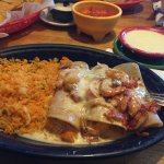 my seafood enchiladas and rice