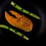 Lobster with Santorinian fava, green asparagus, avruga, jalapeno citrus & lobster broth.