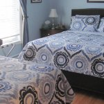 Comfy beds with quilts