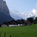 Jungfrau peaks overlook the valley