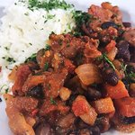 Five Bean Chilli served with Basmati Rice
