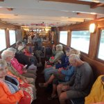ON the return trip some members enjoyed chowder coffee, and socializing in the cozy cabin!