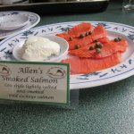 Smoked salmon for breakfast