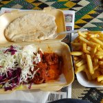 Really good kebab and loved the salad too