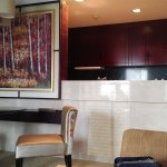 Dining table and kitchenette