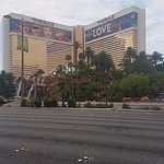 The hotel from the strip