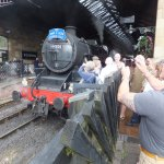 Our locomotive on turn around at Pickering