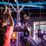 Test your agility with our high ropes course while suspended above the gaming floor