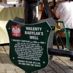 Plaque commemorating the self-immolation of Walenty Badylak in 1980