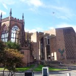 The old and the new Coventry Cathedrals