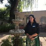 "Our Hostess, Louisa in the courtyard,was invaluable. Accommodations in ""Socialite I"" suite w/Kin"