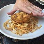 range rattler as big as your palm. Jalapeño with a shrimp inside.