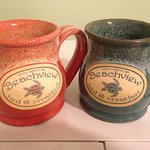 We bought two mugs and took them home with us. So we can remember the Beachview every morning.