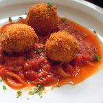 Arancini with Parma Ham and Mozzarella with Tomato & Basil Sauce