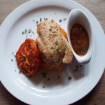 Roast Chicken Breast with Sweet Potato Mash and Cider Gravy