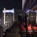 The outside part of Hyatt Centric Times Square's rooftop Bar