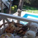 desayuno en el balcón!!