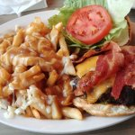 Cheeseburger with Bacon and Poutine! Amazing!