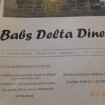 Foto de Babs Delta Diner