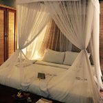 Gorgeous king size bed in our villa suite