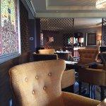 The lovely Taj Club lounge