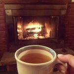 Making tea and getting cozy