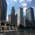 View from the water of Chicago skyline