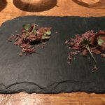 amuse boiuche by the chef: dried mushrooms