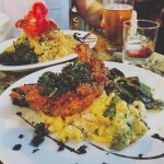 fried chicken with lobster mac n cheese