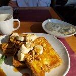 Carmel banana walnut french toast