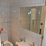 Bathroom & shower in the mirror