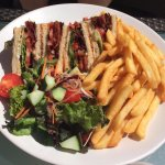 Club sandwich on the terrace.