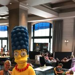 Marge and the missus hotel lobby