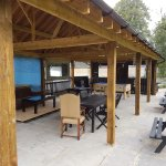 The outdoors area under cover