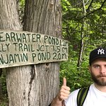 hiking and actually finding Benjamin Pond