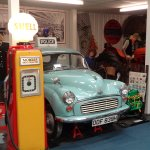 A Morris Minor panda car (and Shell pump)